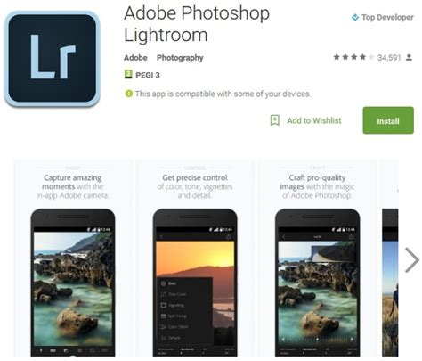 adobe lightroom full version for android lightroom on android now with raw support