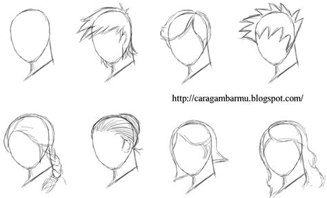 Cara Mudah Menggambar Manhwa menggambar rambut