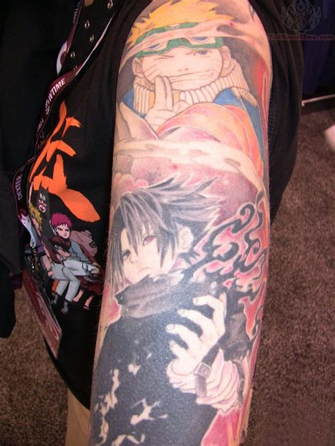 anime tattoo sleeve anime tattoos page 14