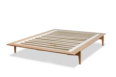 Low Bed Frames Low Bed Platform Frame Ultra Low Platform Bed With Milk Paint Finish On Solid Wood Wilbur
