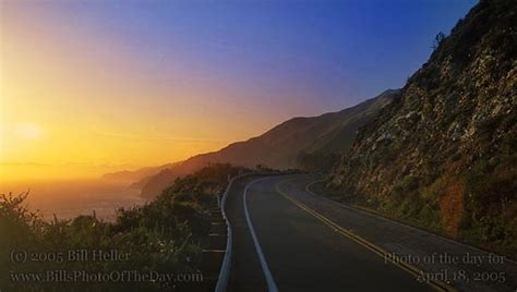 Sunset And Pch - pacific coast sunset sunset on pacific coast highway near big sur bill heller s photo of the day for april 18 2005