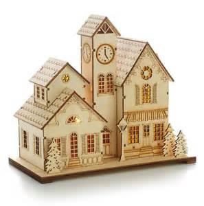 lighted houses 2014 laser cut wood hallmark ornament