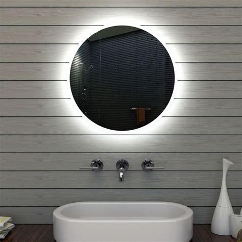 beleuchtung rund badezimmerspiegel badspiegel wandspiegel led beleuchtung