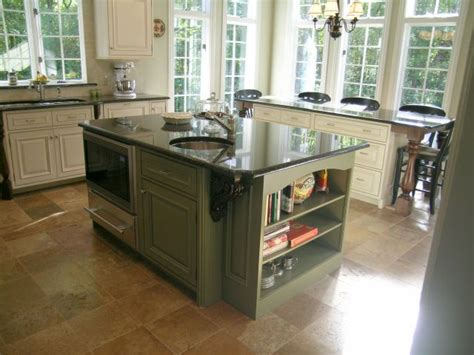 Green Kitchen Islands Maple Wood Kitchen Cabinets In Green And Harricana