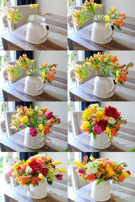 how to make a floral arrangement an easy diy floral arrangement for spring