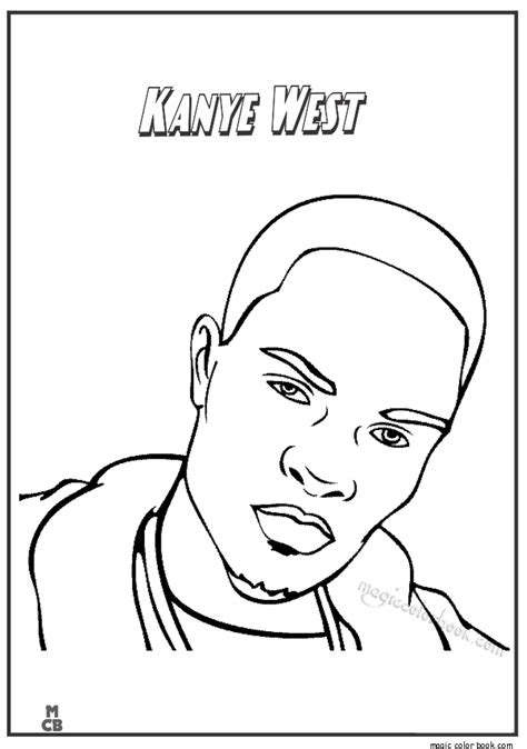 coloring book kanye west coloring pages kanye west 01