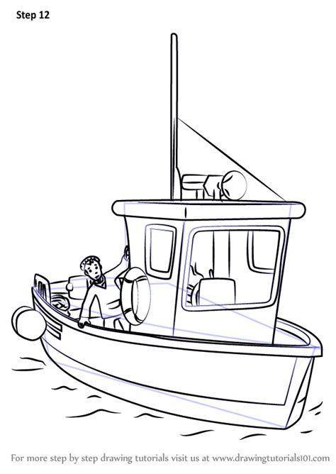 how to draw a rescue boat learn how to draw charlie jones boat from fireman sam