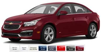 chevy colors 2016 chevy cruze limited color choices hodge
