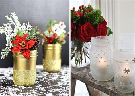 vasi natalizi decorazioni di natale con barattoli di vetro foto 25 40