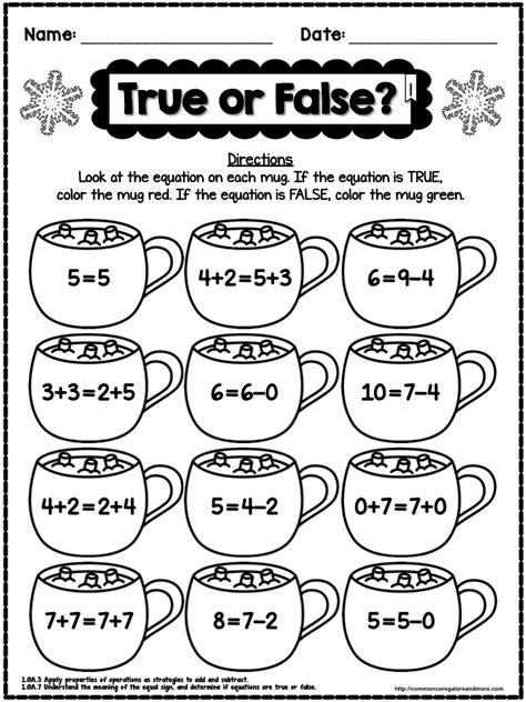 math coloring page winter 5th grade winter worksheets winter no prep math