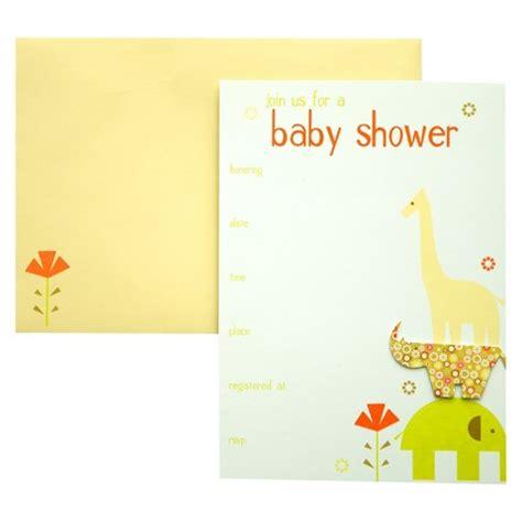 target baby shower invitations baby animals baby shower invitations 10 count target