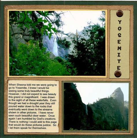 layout yosemite layout yosemite waterfalls 1 scrapbooking pinterest