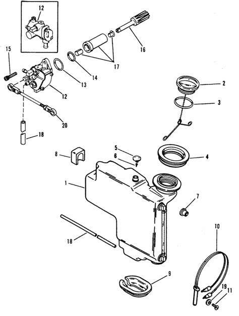 mercury marine  hp  cylinder oil injection components parts