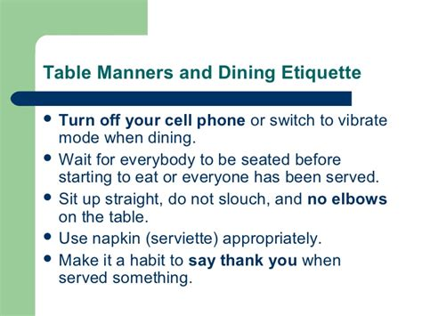 Important Aspects About Table Manners by Perdev Social Aspect
