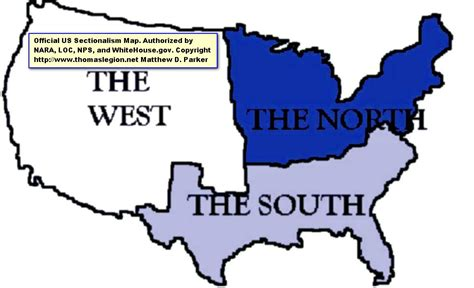 sectionalism map sectionalism and southern secession