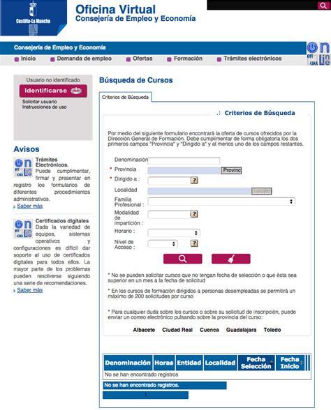 oficina virtual del inem cursos sepecam gratis para desempleados