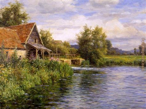 louis aston knight cottage by the river painting anysize