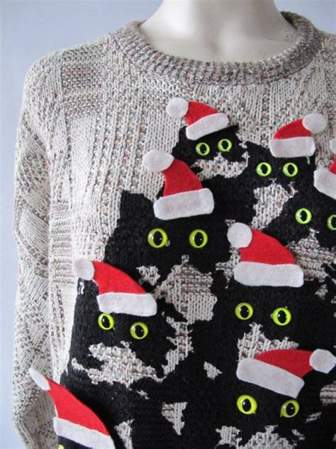 christmas jumper themes ugly christmas sweater crazy cat lady theme ugly