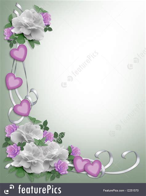 templates wedding invitation border white roses stock