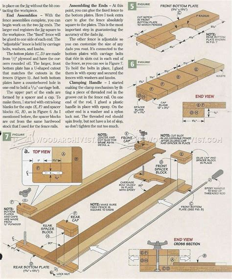 router plans woodworking free router dado jig plans woodarchivist