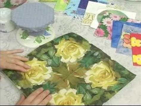 What Can I Decoupage - how to decoupage how to decoupage a glass platter