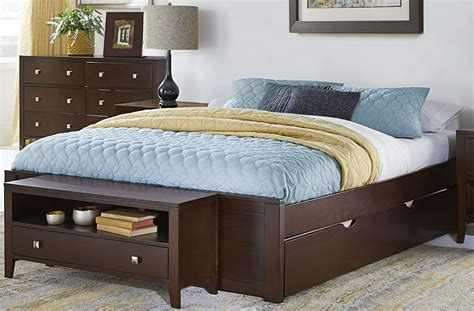 king size bed with trundle pulse chocolate king platform bed with trundle 32004nt