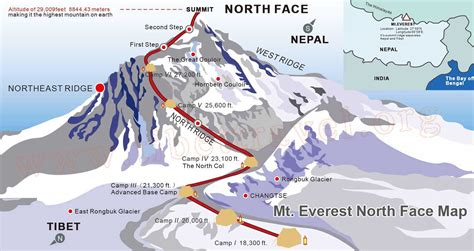 mt everest map everest base c maps everest base c tour map everest base c trek and climb map