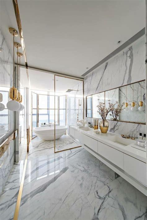 trendy materials  luxury bathroom decor ideas