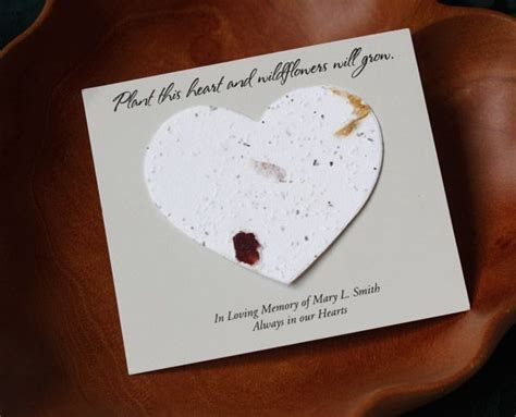 Seed Cards Heart Shaped For Memorial  Ee  Service Ee   Grows