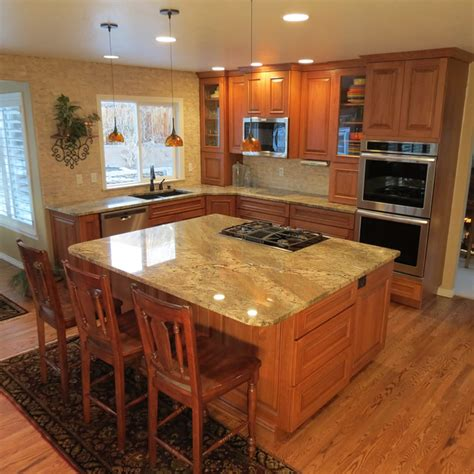 hickory cabinets with granite countertops hickory hickory cabinets with netuno bordeaux granite countertops