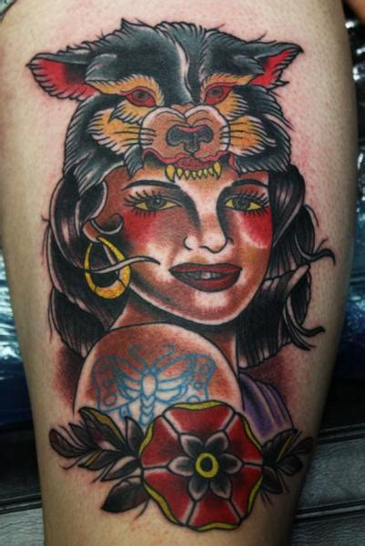 Tattoo Old School Gypsy | old school gypsy tattoo by electric soul tattoo
