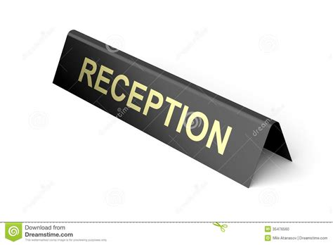 Reception Desk Signs Hotel Reception Stock Photo Image 35476560