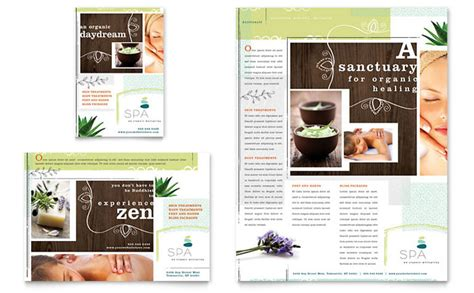 spa brochure templates free day spa flyer ad template design