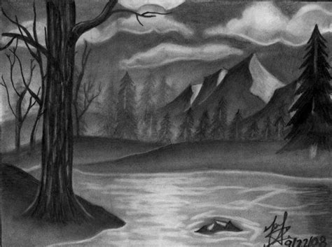 drawings of landscapes landscape drawing pencil