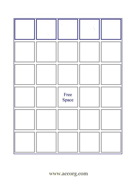 empty bingo board new calendar template site