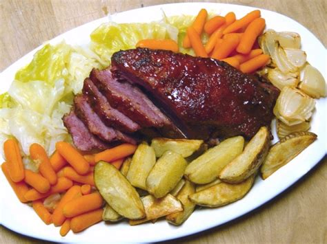 easy corned beef brisket recipe glazed corned beef brisket and veggies recipe food com