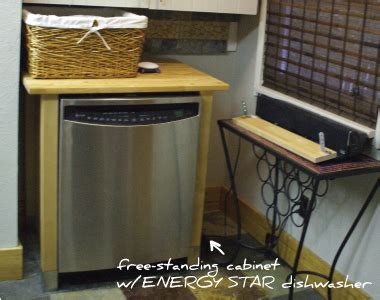 free standing dishwasher cabinet moving in journal on conscious living