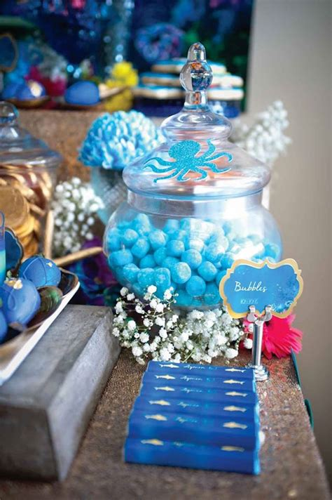 karas party ideas shark mermaid   sea joint birthday party