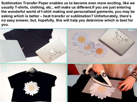How To Make Sublimation Paper - sublimation vs sublimation transfer paper of clothing