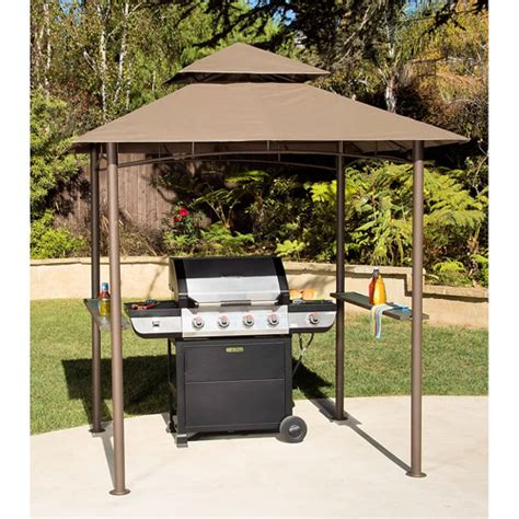 double roof grill shelter gazebo 8 x 5 walmart com