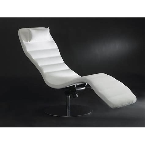 White Leather Chaise Longue luxury white leather chaise longue