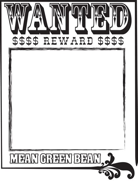 best photos of wanted poster template for students blank