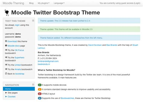 moodle theme base building with bootstrap basbrands nl