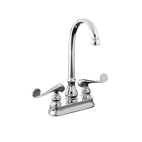 shop kohler revival polished chrome 2 handle high arc shop kohler revival polished chrome 2 handle bar and prep