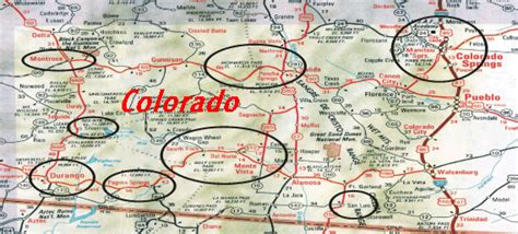 south central colorado map