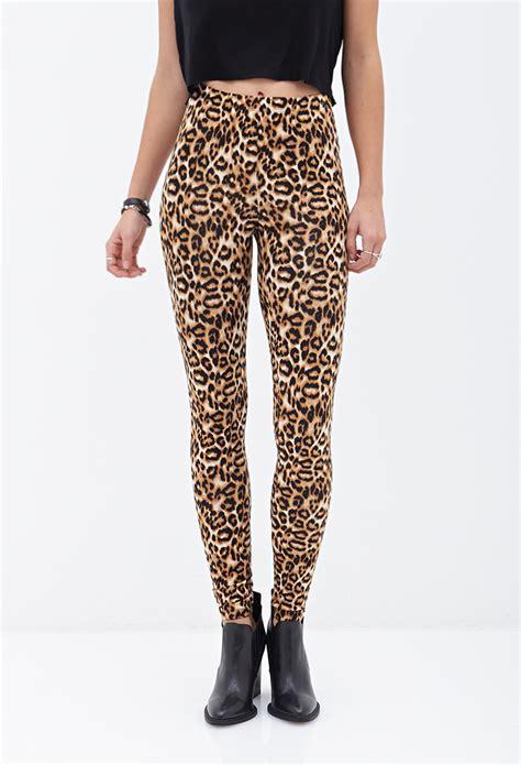 Forever 21 Leging lyst forever 21 leopard print
