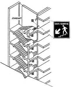 Fire Exit Stairs Dimensions by Ofm Tg 00 1998 Guidelines For Stairwell Signs In Multi