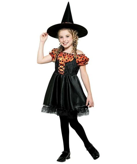 halloween costumes orange witch costume kids costume witch halloween