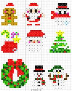 christmas perler bead patterns perler beads pinterest kerst navidad und natale