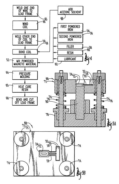 ihlp inductor material patent us6204744 high current low profile inductor patentsuche
